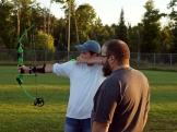 Scott helps Cody find his target.