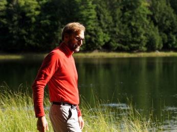 Michael Salat on shore watch
