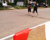 Talula and Chloe cross the finish line!