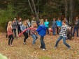 Family and friends observe field instruction class.
