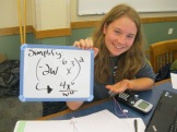 Katelynn demonstrates power rules with negative exponents, obviously. :)
