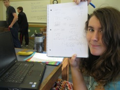 "Kristi shows off her simplified polynomial. Definite ""mathterpiece."""