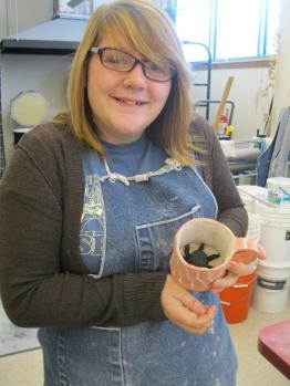 Randa's octopus mug is almost complete!