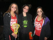 Alli, Clara, and Talula dressed up as LAX bros