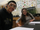 Kainoa and Kaya working on their labsheet.