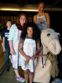 The Children's Museum crew gets silly with props