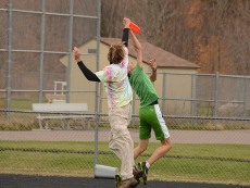 Michael and Henry go up for a disc