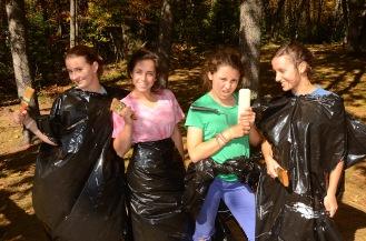 Chloe, Talula, Espior, and Sarah strike a pose