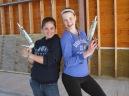 Hannah and Maddie strike a pose