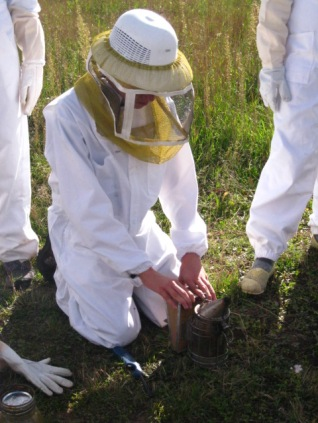 Eric preparing the smoker