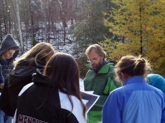 Michael Salat gets his class outdoors