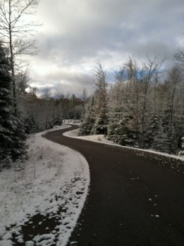 The roadways are clear, for now