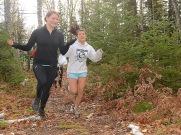 Sarah and Rachel run away with the thriathlon