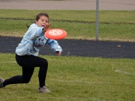 Rachel makes a tough catch in Sunday's tournament