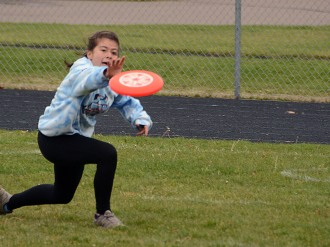 Rachel makes a tough catch in Sunday's tournament