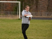 Ruby competes in the Ultimate Frisbee match