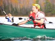 Woogie paddles forward in the thriathlon