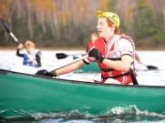 Woogie paddles forward in the thriathlon