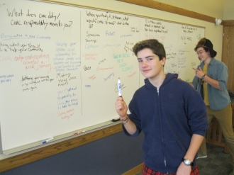 "Liam and Logan wrap up a few thoughts from a chalk talk on activism during ""Gather Go Grow""."