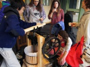 Students pressed their own apple cider
