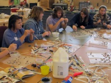 Gratitude and bead-making workshop