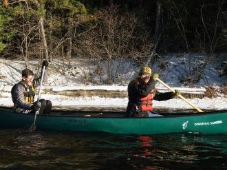 Henry and Katelynn paddling