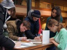 Students write thank you letters as part of Harvest Fest