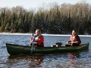 Siri and Max paddling