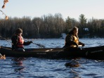 Taylor and Sarah paddling