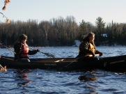 Taylor and Sarah paddling