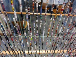 More beads hanging near the cafeteria