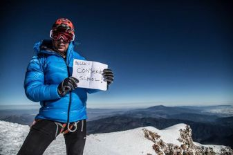 Eric sends us his greetings from the top of Pico de Orizaba!