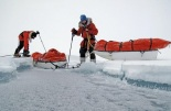 Eric and his team encounter shifting, unpredictable terrain in the Arctic. Photo credit: ericlarsenexplore.com