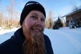 Grad Fellow Matt isn't afraid of the winter weather