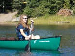 Canoeing in Field Instruction class