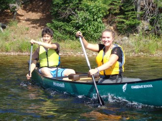 Canoeing in Field Instruction