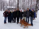 Katelyn, Kayleigh, Sonja, Rayna, Adam, Rosemary, Juliet, Nathan & Jack (Copper & Teddy in front)