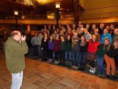 Jeff Rennicke taking a group photo