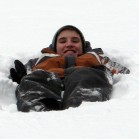 Relaxing in the snow