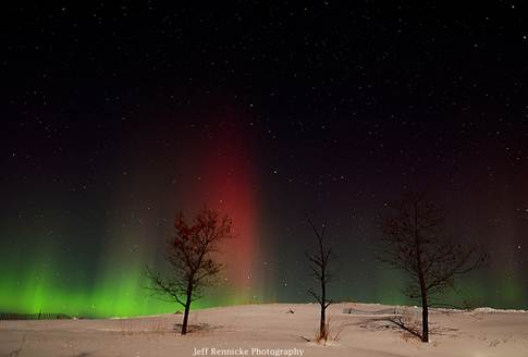 Northern Lights over the Sledding Hill
