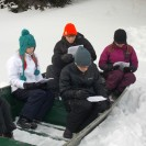 Students read about surviving extreme cold