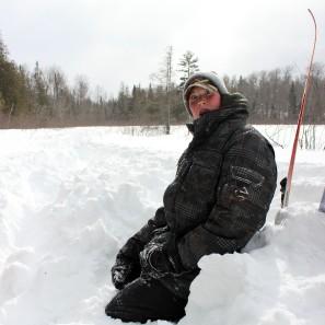 Matt taking a break from skiing