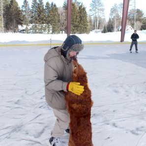 """Copper """"ice dancing"""" with Tim"""