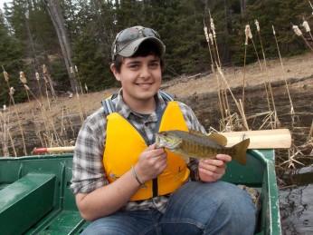 Jake with a smallmouth bass