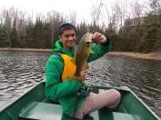 Nick with a largemouth bass