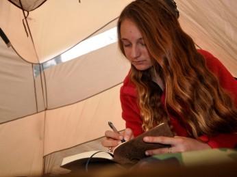 Natalie journaling