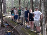 Group near the Mallard site