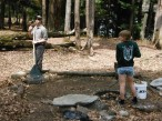 Doing service work in the Sylvania Wilderness