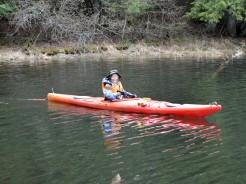 14-05-22 At Start Red Kayak single