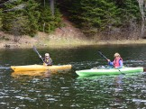 14-05-22 End of Day two kayaks yellow green